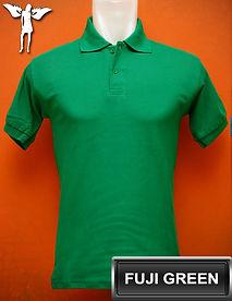 Fuji Green Polo Shirt, kaos polo hijau fuji