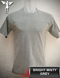 Bright Misty Grey t-shirt, kaos abu misty muda, bright misty grey round neck t-shirt, bright misty grey crew neck t-shirt