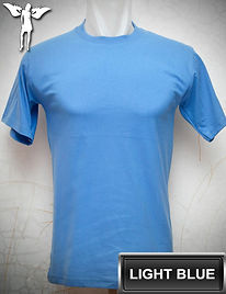 Light Blue T-Shirt, kaos biru muda, light blue round neck t-shirt, light blue crew neck t-shirt