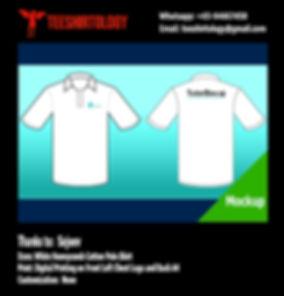 Digital Printing of White Honeycomb Cotton Polo Shirt