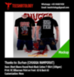 nine color printscreen of Chugga Ritual Namporat Cotton TShirt