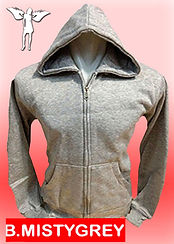 Digital Printing, Silkscreen Printing, Embroidery, Misty Grey Zipped Hoodie, Misty Grey Fleece Zipped Hoodie