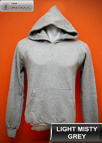 Light Misty Grey Hooded Sweater, sweater hoodie abu misty muda