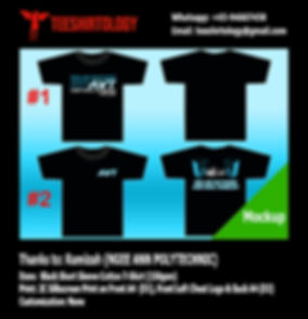 Ngee Ann Polytechnic Black Cotton T-Shirt Screenprinting