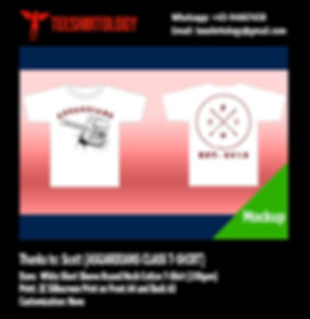 White Cotton Class T-Shirt Silkscreen Printing
