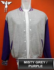 MistyGrey/Purple Varsity Jacket, baseball jacket, college jacket