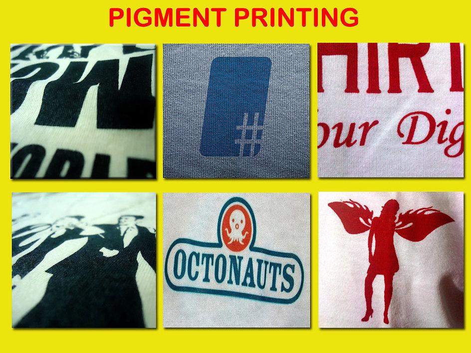 pigment print, waterbased silkscreen printing, sablon pigment