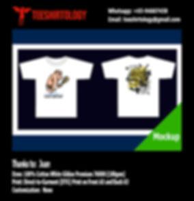 Cute Cartoon White Cotton Gildan Premium 76000 Shirt DTG Print
