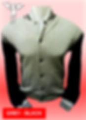 Digital Printing, Silkscreen Printing, Embroidery, Misty Grey Black Baseball Jacket, Misty Grey Black Fleece Varsity Jacket