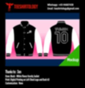 Digital Print of Black Fleece Varsity Jacket