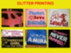 Glitter Silkscreen Printing, Sablon Glitter, t-shirt printing