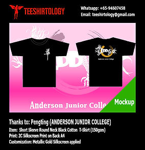 Anderson JC Gold Screenprinted Black Cotton T-Shirt