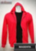 Magenta Hooded Sweater, sweater hoodie magenta half zipper