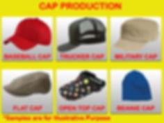 cap, trucker cap, military cap, open top cap, flat cap, baseball cap, beanie, embroidered cap, printed cap