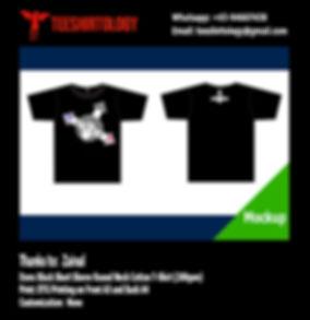 DTG Print of Black Cotton T-Shirt
