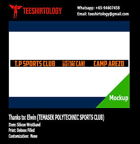 Temase Poly Sports Camp Deboss Filled Silicon Band
