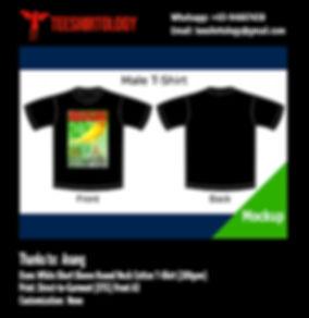 DTG A3 Print of Black Cotton T-Shirt