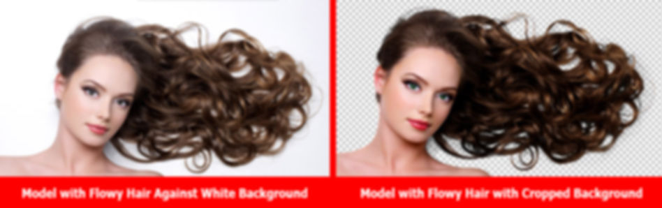 Image Editing Service shows hair removal from backgound