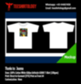 DTG A4 Print of White Cotton Gildan Softstyle 63000 T-Shirt