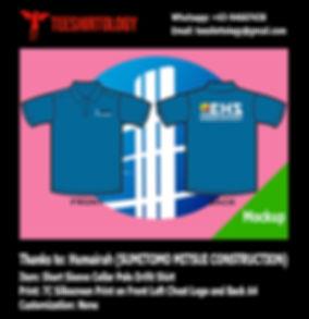Sumitomo Mitsui Drifit Polo Shirt Silkscreen Printing