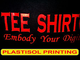 plastisol printing, silkscreen printing, manual printing, t-shirt printing