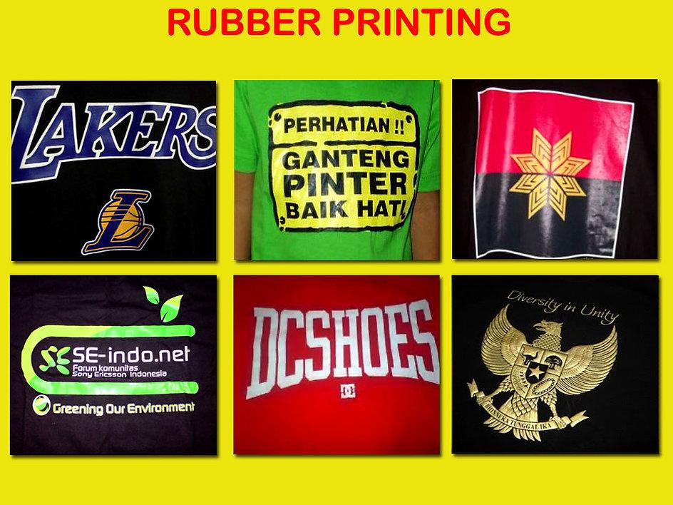 rubber printing, sablon karet, sablon rubber