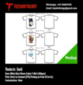 Japan Anime White Cotton T-Shirt DTG Print A3