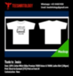 Princess White Cotton Gildan Premium 76000 Shirt DTG A4 Print
