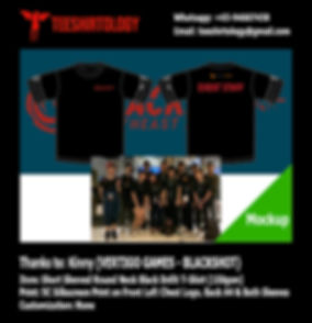 Vertigo Games Blackshot Screenprint of Black Cotton T-Shirt