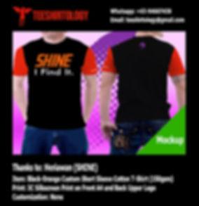 SHINE Label Custom Dual Color T-Shirt Silkscreen Printing