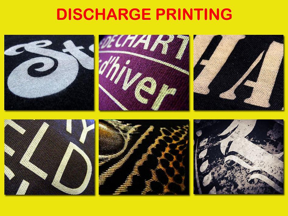 Discharge Printing, dischasablon discharge silkscreen printing, sablon cabut warna, t-shirt printing