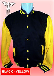 Digital Printing, Silkscreen Printing, Embroidery, Black Yellow Baseball Jacket, Black Yellow Fleece Varsity Jacket