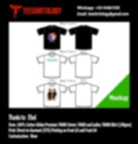 Family T-Shirt Black and White Gildan Premium 76000 DTG Printing