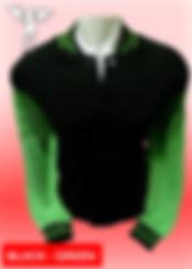 Digital Printing, Silkscreen Printing, Embroidery, Black Green Baseball Jacket, Black Green Fleece Varsity Jacket