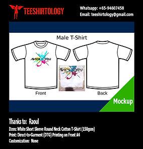 DTG A4 Print of White Cotton T-Shirt