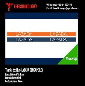 Lazada Embossed Silicon Wristband