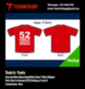 Girls' Generation Red Cotton T-Shirt with DTG A3 Print