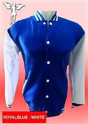 Digital Printing, Silkscreen Printing, Embroidery, Royal Blue White Baseball Jacket, Royal Blue White Fleece Varsity Jacket