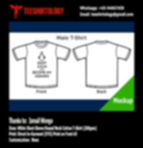 Keep Calm Assassin White Cotton T-Shirt DTG A3 Print