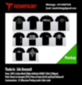 Bronzers Label Black Cotton Gildan Softstyle 63000 T-Shirt DTG Printing