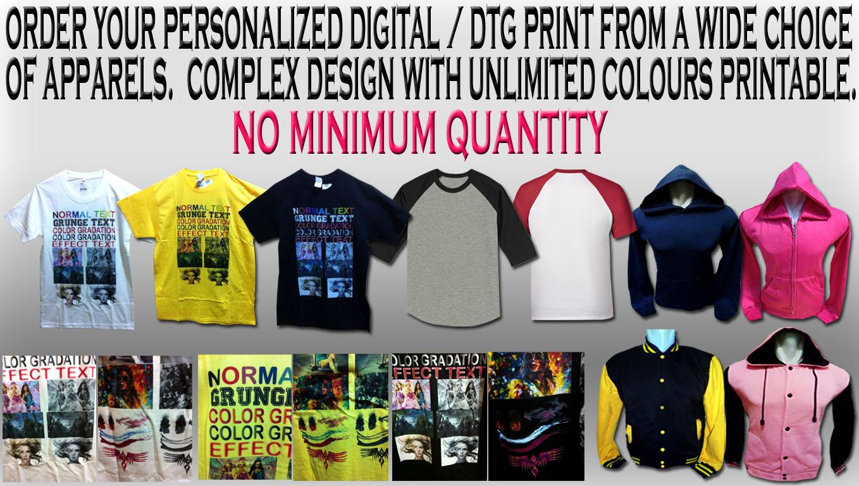 Custom T Shirt Printing Silkscreen Dtg Singapore Tee Shirtology