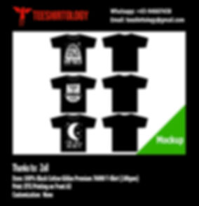 DTG A3 Print of Black Cotton Gildan Premium 76000 Shirt