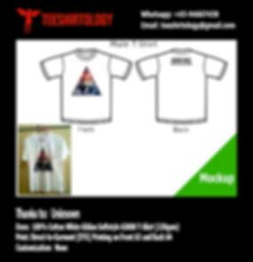 Galaxy White Cotton Gildan Softstyle 63000 T-Shirt DTG A3 Print
