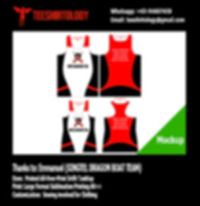 Singtel Dragon Team - Drifit Fabric Printing for All-Over-Print Tanktop Product