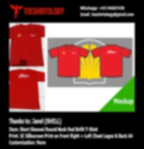 SHELL Silkscreen Printed Red Drifit T-Shirt