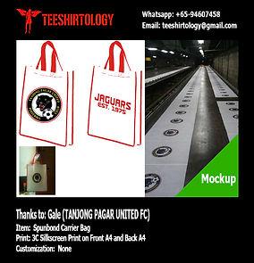Tanjong Pagar United FC Spunbond Totebag Silkcreen Printing