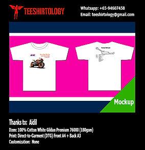 DTG Print of Racing White Cotton Gildan Premium 76000 T-Shirt