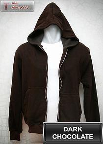 Dark Chocolate Hooded Sweater, sweater hoodie coklat tua half zipper