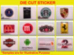 die cut sticker, glossy sticker, matte sticker, promotional gift