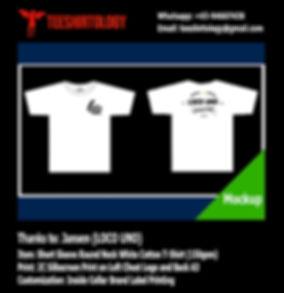 Loco Uno Brand Silkscreen Printing of White Cotton T-Shirt